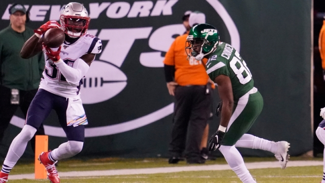 New England Patriots safety Devin McCourty. New York Jets wide reciever Jamison Crowder