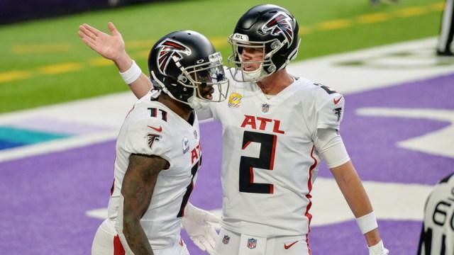 Atlanta Falcons' Julio Jones, Matt Ryan