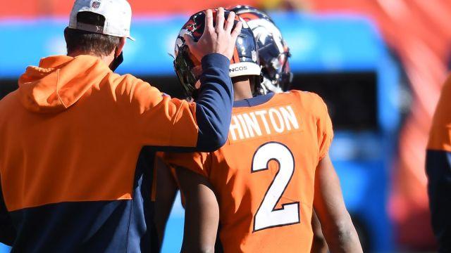 Denver Broncos quarterback Kendall Hinton