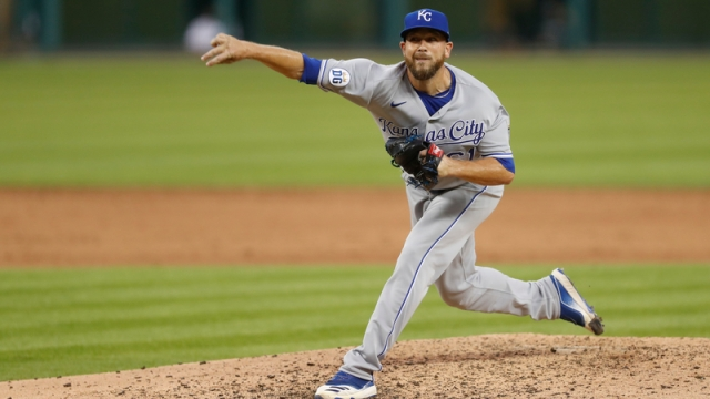 Kansas City Royals relief pitcher Kevin McCarthy