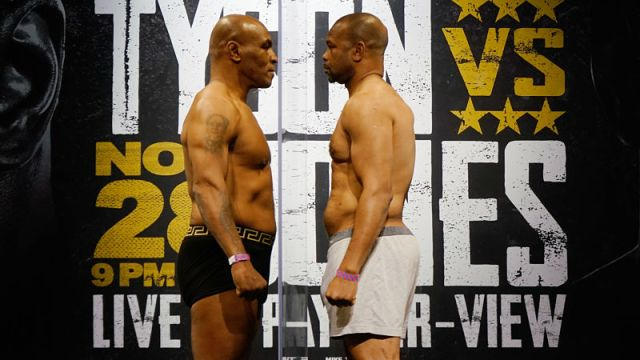 Boxers Mike Tyson and Roy Jones, Jr.