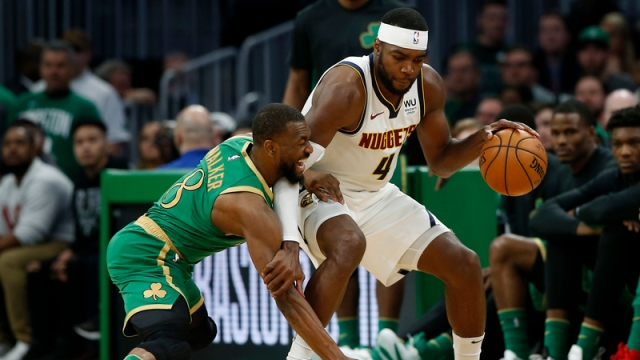 Denver Nuggets forward Paul Millsap, Boston Celtics guard Kemba Walker