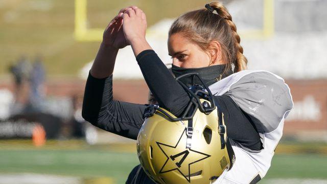 Vanderbilt kicker Sarah Fuller