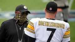Pittsburgh Steelers' Mike Tomlin, Ben Roethlisberger