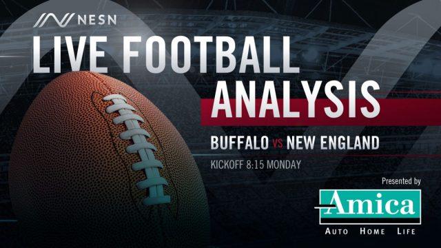 Amica Live Football Analysis NE vs BUF 8:15pm Monday
