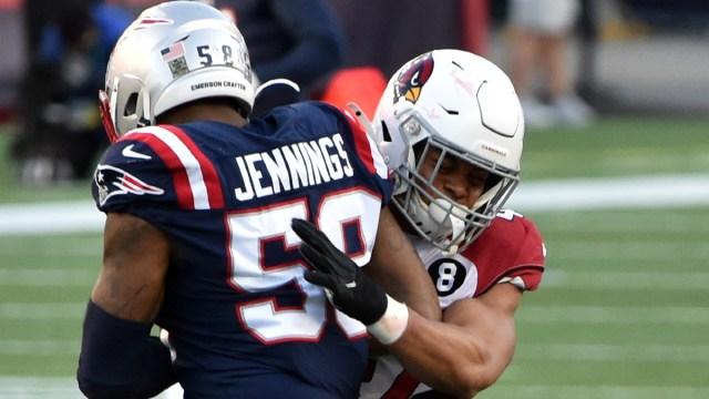 New England Patriots linebacker Anfernee Jennings