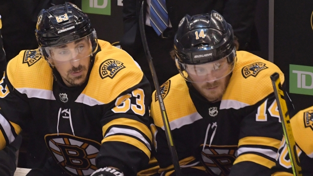 Boston Bruins Forwards Brad Marchand And Chris Wagner