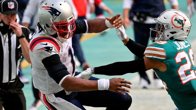 Patriots quarterback Cam Newton