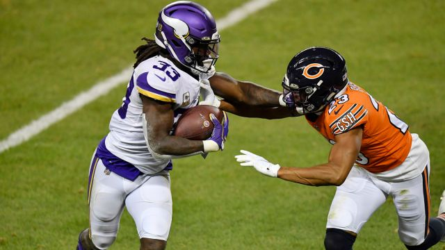 Minnesota Vikings running back Dalvin Cook and Chicago Bears cornerback Kyle Fuller