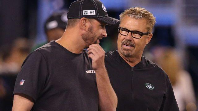 New York Jets head coach Adam Gase, former defensive coordinator Gregg Williams
