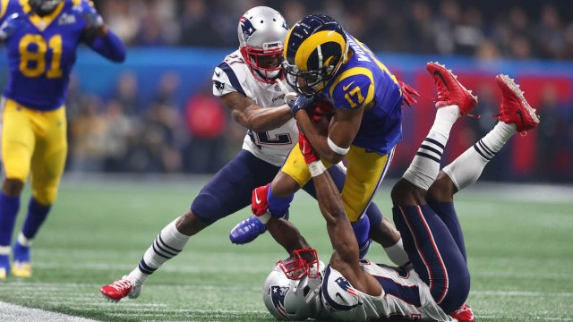 Patriots cornerbacks JC Jackson, Jonathan Jones, Rams wide receiver Robert Woods