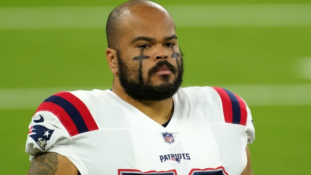 New England Patriots offensive lineman Jermaine Eluemunor