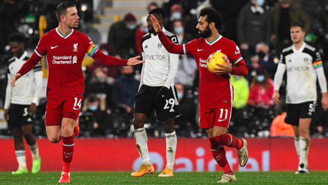 Liverpool midfielder Jordan Henderson and forward Mohamed Salah