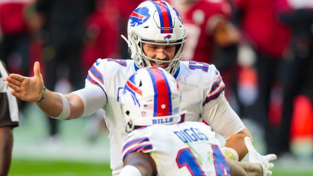 Buffalo Bills quarterback Josh Allen and wide receiver Stefon Diggs