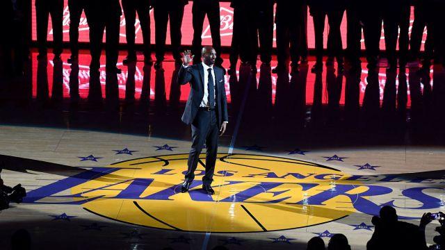 Former Los Angeles Lakers guard Kobe Bryant