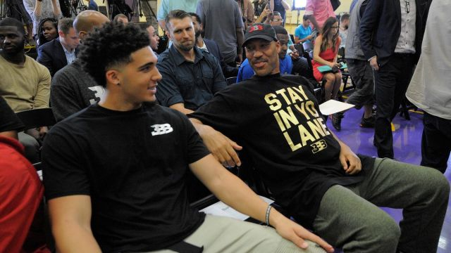 NBA free agent LiAngelo Ball, LaVar Ball