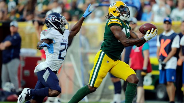 Tennessee Titans cornerback Malcolm Butler and Green Bay Packers wide receiver Davante Adams