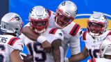 New England Patriots wide receiver N'Keal Harry And quarterback Cam Newton