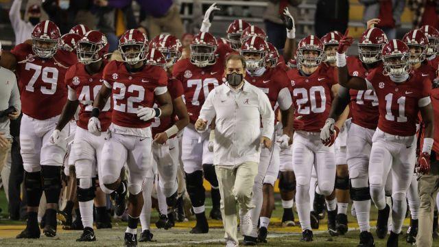 Alabama head football coach Nick Saban
