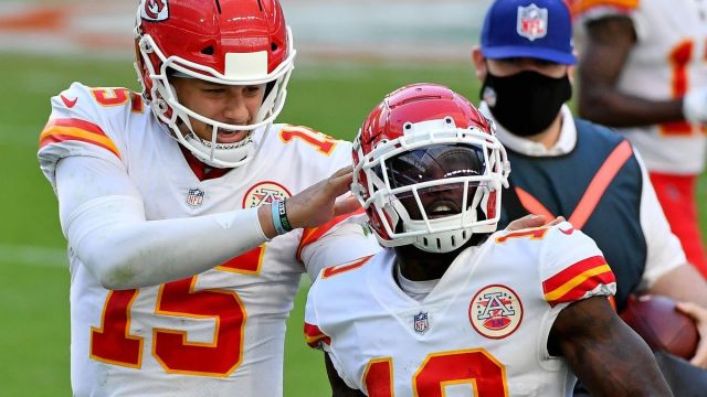 Kansas City Chiefs quarterback Patrick Mahomes, receiver Tyreek Hill