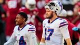 Buffalo Bills wide receiver Stefon Diggs and quarterback Josh Allen