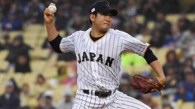 Japanese pitcher Tomoyuki Sugano