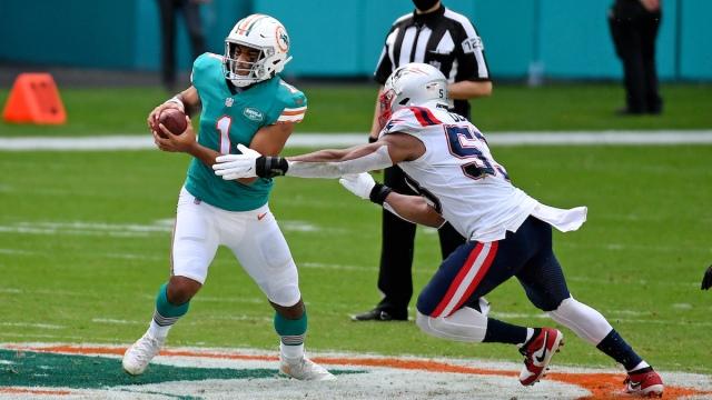 Dolphins QB Tua Tagovailoa, Patriots linebacker Josh Uche