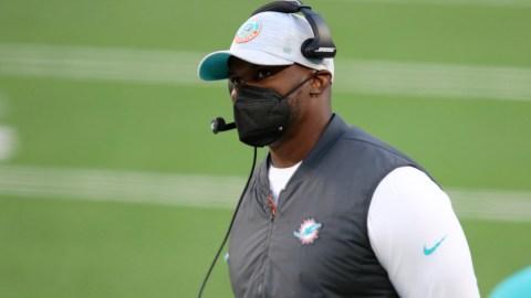Miami Dolphins head coach Brian Flores