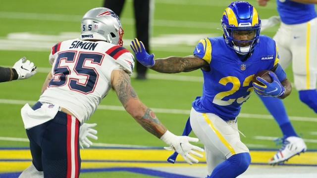 Los Angeles Rams running back Cam Akers