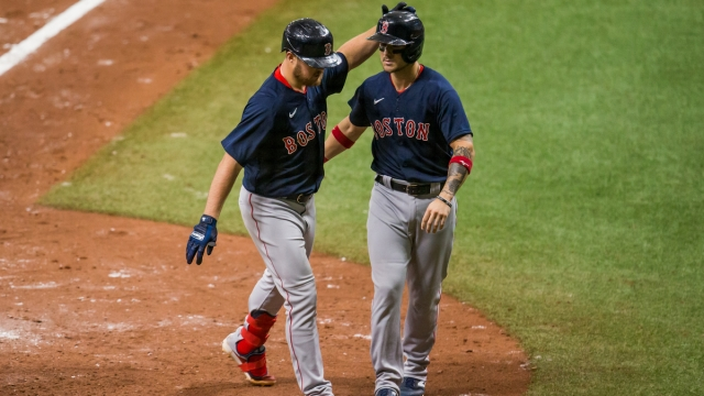 Boston Red Sox infielders Michael