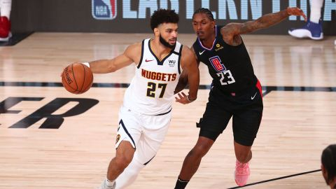 Denver Nuggets guard Jamal Murray and Los Angeles Clippers guard Lou Williams