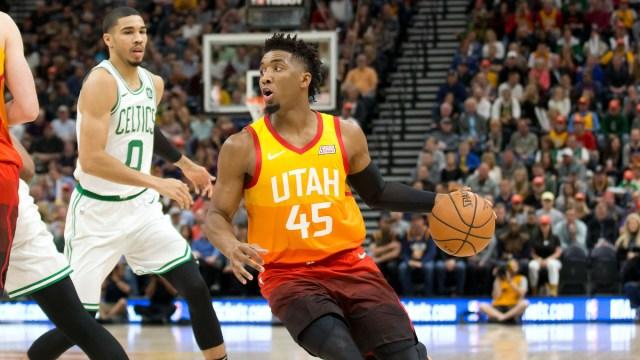 Utah Jazz guard Donovan Mitchell, Boston Celtics' Jayson Tatum