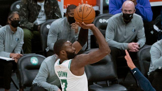 Boston Celtics shooting guard Jaylen Brown