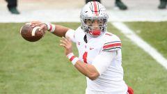 Oho State quarterback Justin Fields