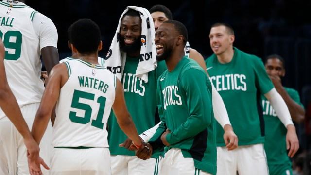 Boston Celtics guard Kemba Walker, Tremont Waters