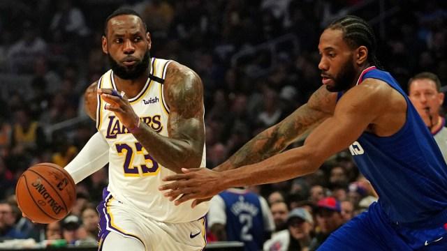 Los Angeles Lakers forward LeBron James, LA Clippers forward Kawhi Leonard