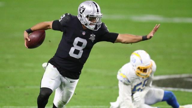 Las Vegas Raiders quarterback Marcus Mariota