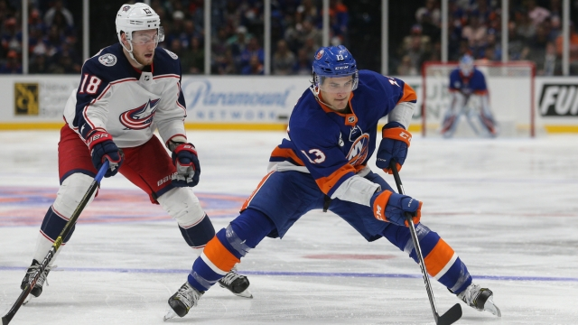 New York Islanders center Mathew Barzal, Columbus Blue jackets center Pierre-Luc Dubois