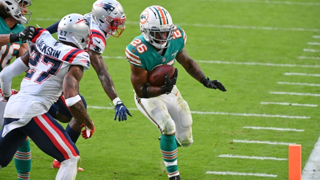 Miami Dolphins running back Salvon Ahmed