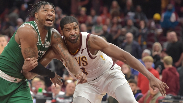 Boston Celtics guard Marcus Smart, center Tristan Thompson