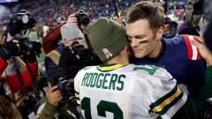 Green Bay Packers quarterback Aaron Rodgers, Tampa Bay Buccaneers quarterback Tom Brady