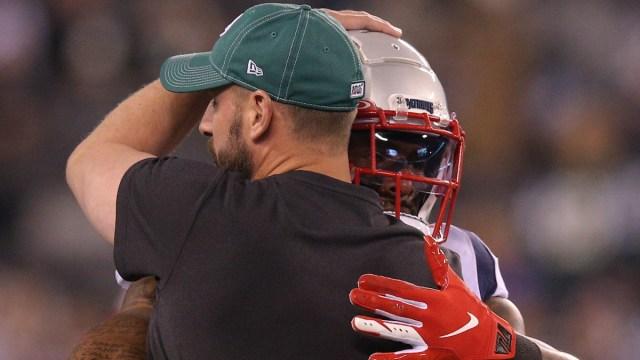 Jets head coach Adam Gase, Patriots running back Brandon Bolden