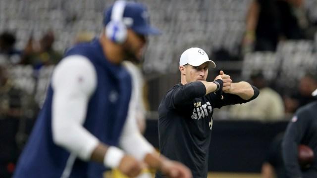 Cowboys quarterback Dak Prescott, Saints quarterback Drew Brees