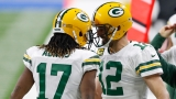 Green Bay Packers Wide Receiver Davante Adams And Quarterback Aaron Rodgers