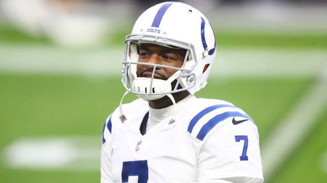 Indianapolis Colts quarterback Jacoby Brissett