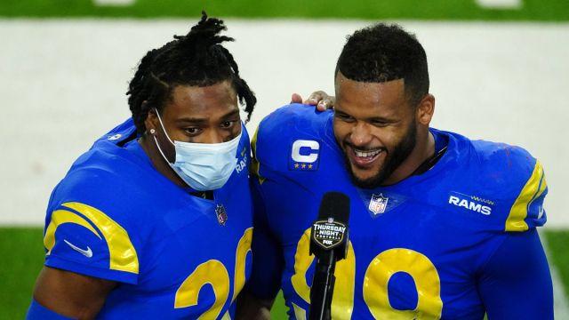 Los Angeles Rams cornerback Jalen Ramsey and defensive tackle Aaron Donald