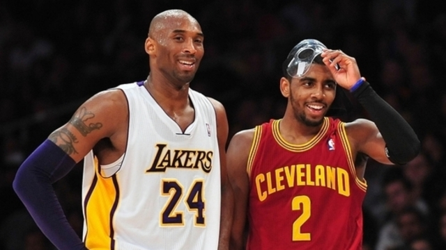 Los Angeles Lakers legend Kobe Bryant, Brooklyn Nets guard Kyrie Irving
