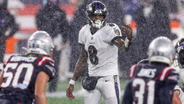 Ravens quarterback Lamar Jackson, Patriots