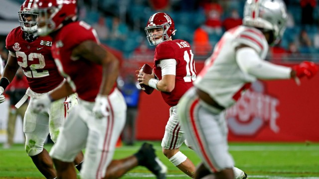 Alabama quarterback Mac Jones