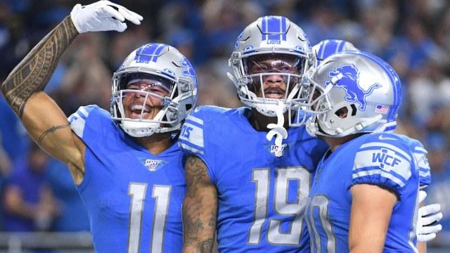 Lions wide receivers Marvin Jones, Kenny Golladay, Danny Amendola